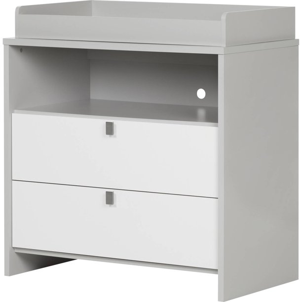 Changing Table Dresser Soft Gray