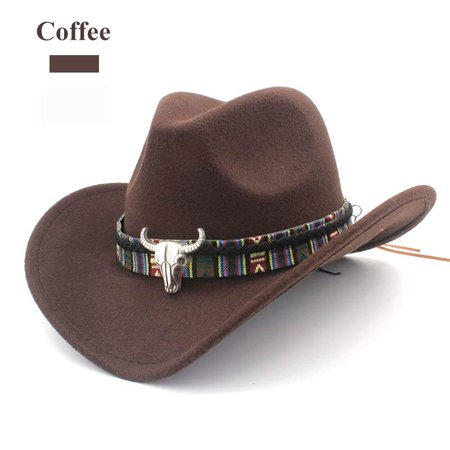 Men Faux Suede Adjtable Neck Strap Western Style Sunhat Cowboy Hat - Cheap Cowboy Hats For Men