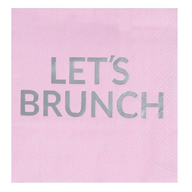 50 Pack Lets Brunch Cocktail Napkins 3 Ply Pink Silver Foil Disposable Paper Beverage Napkins For Bachelorette Party Girls Day Out Birthday Supplies 5 Inches Folded Walmart Com Walmart Com