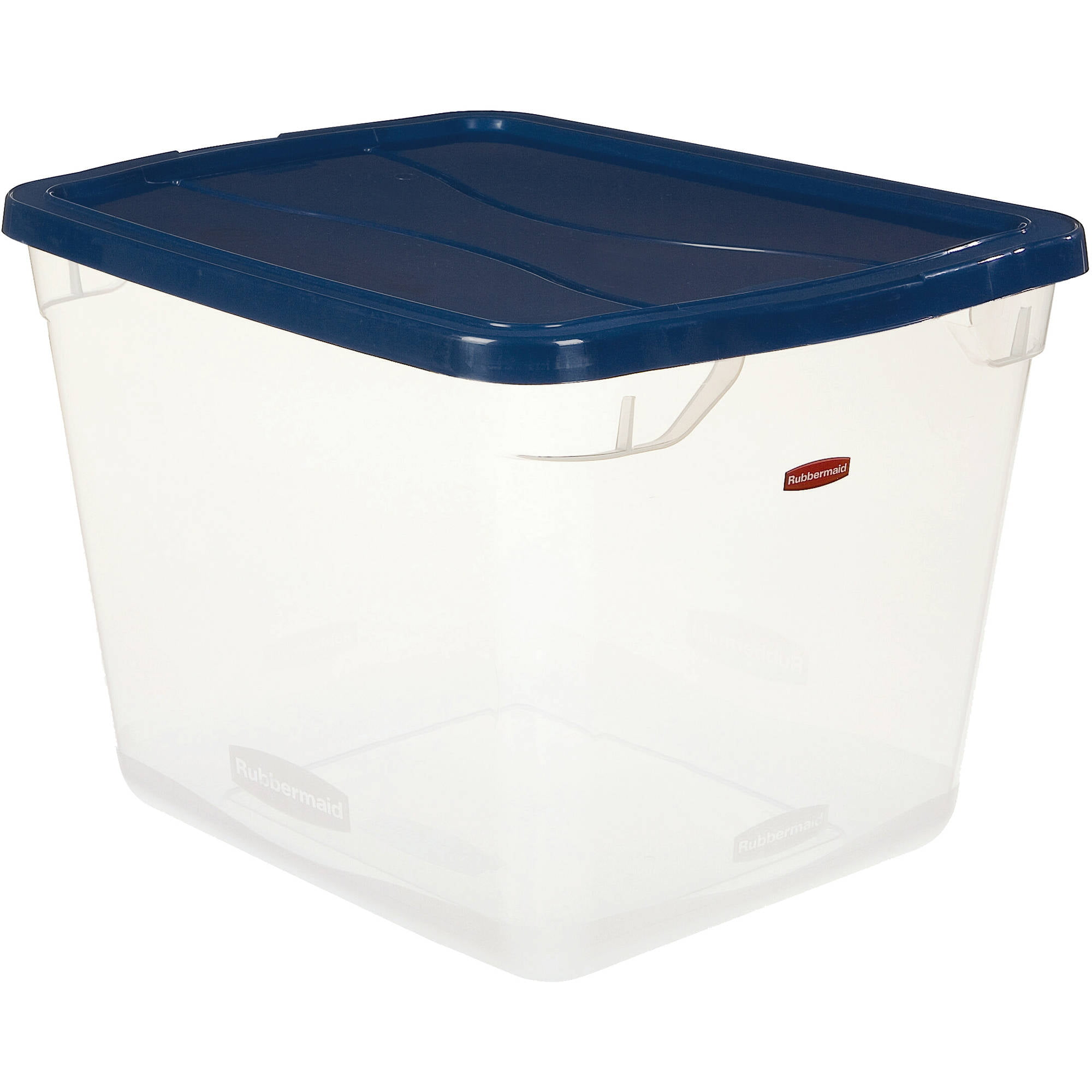 Wonderful Rubbermaid 7.5 Gallon / 30 Quart Plastic Storage Totes, Clear/ Blue (Set Of  8)   Walmart.com