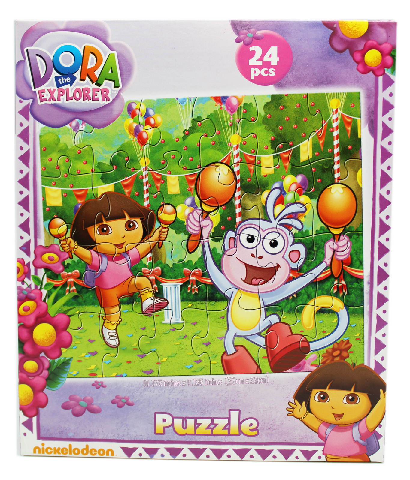 Dora the Explorer Dora and Boots Fiesta Kids Jigsaw Puzzle (24pc) by