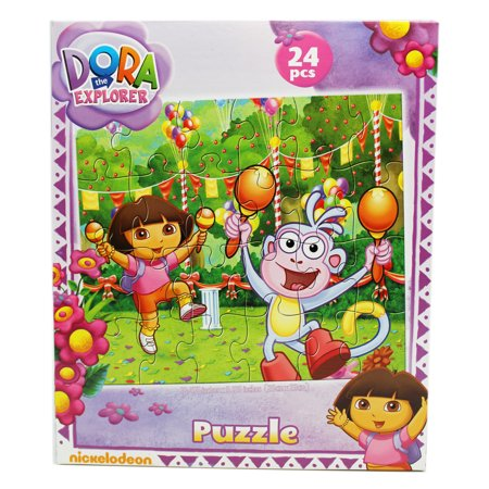 Dora The Explorer Dora And Boots Fiesta Kids Jigsaw Puzzle