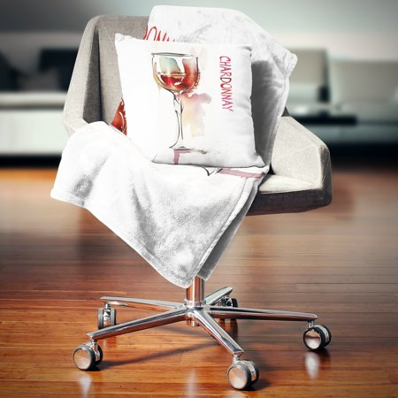 Remarkable Design Art Designart Red Wine On White Background Contemporary Throw Blanket Inzonedesignstudio Interior Chair Design Inzonedesignstudiocom