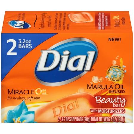 Dial Beauty Bar Soap Miracle Oil Marula 3 2 Ounce Bars