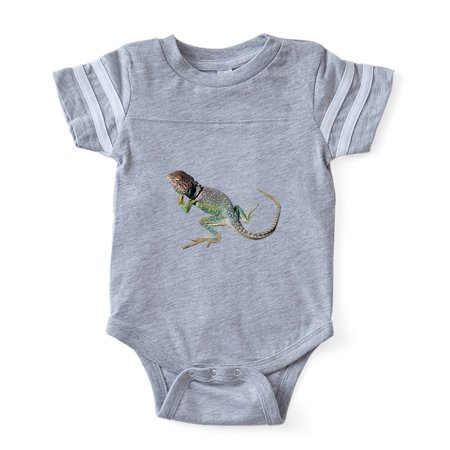CafePress - FIN Collared Lizard... - Cute Infant Baby Football - Collar Bodysuit