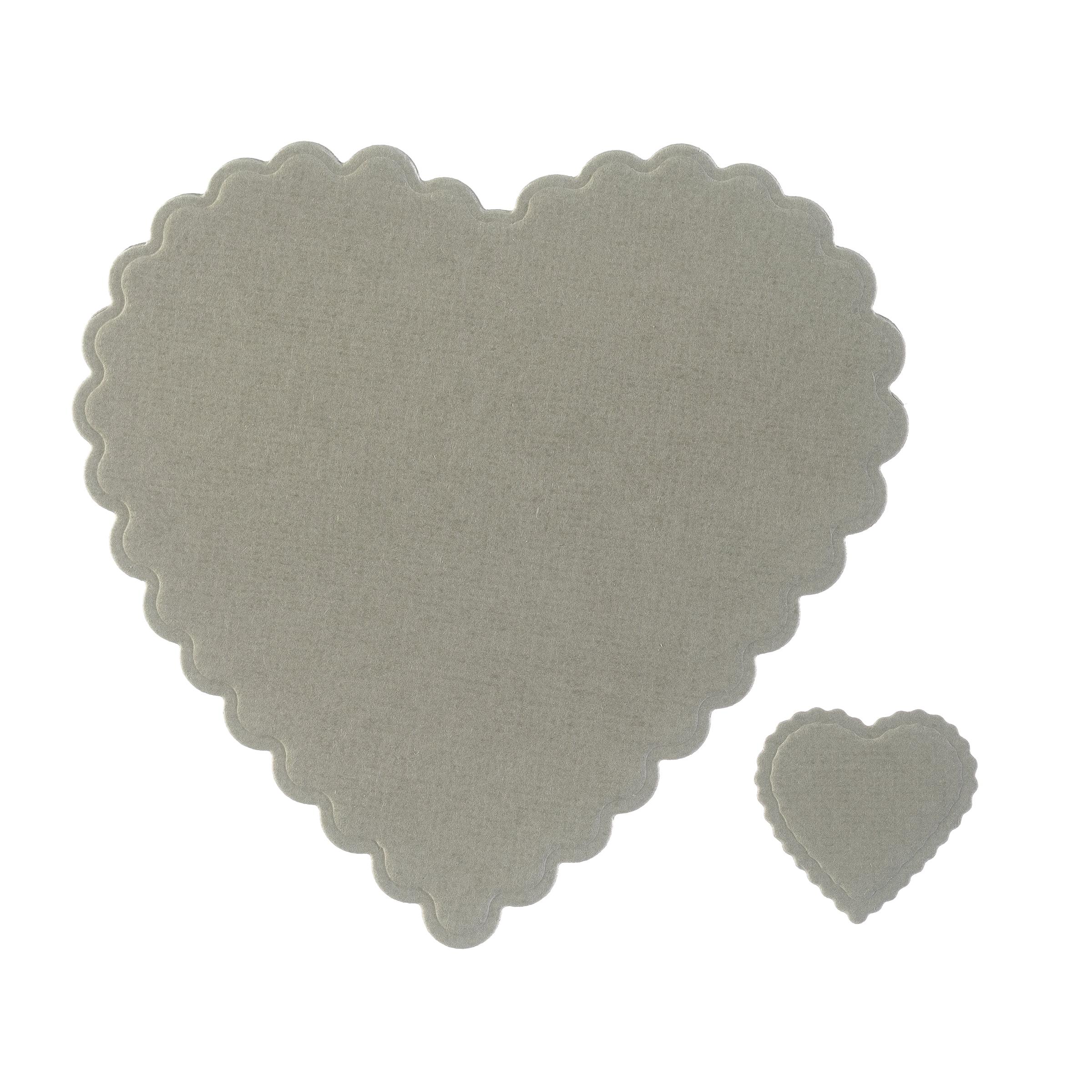 Scalloped Hearts Metal Die Cut Stencil Darice Shapes Craft Cutting Dies 5PC
