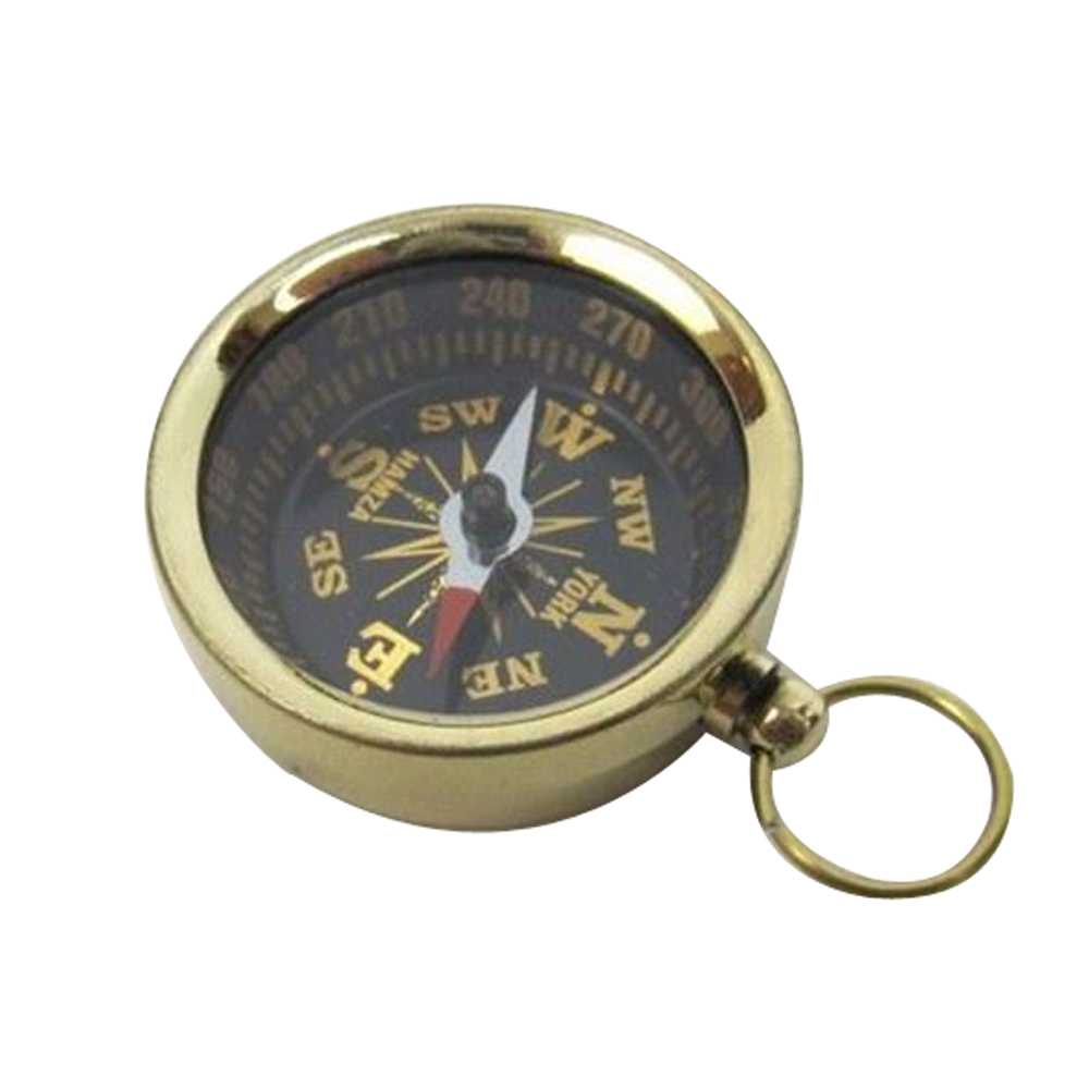 Pocket Compass Brass Nautical Accents by Benzara