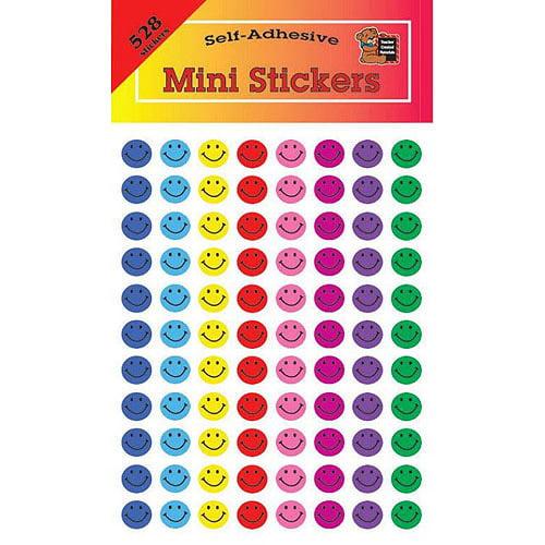 "School Smart Smiles Self-Stick Sticker Set, 0.37"", Pack of 6864"