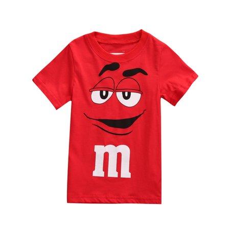 Farrubbyine8 Cartoon Tee Kids Boy Short Sleeve Cotton T-shirt Tops Blouse