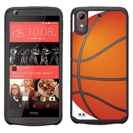 Hybrid Case For Htc Desire 550   555  Onetoughshield   Dual Layer Bumper Phone Caes  Black    Basketball