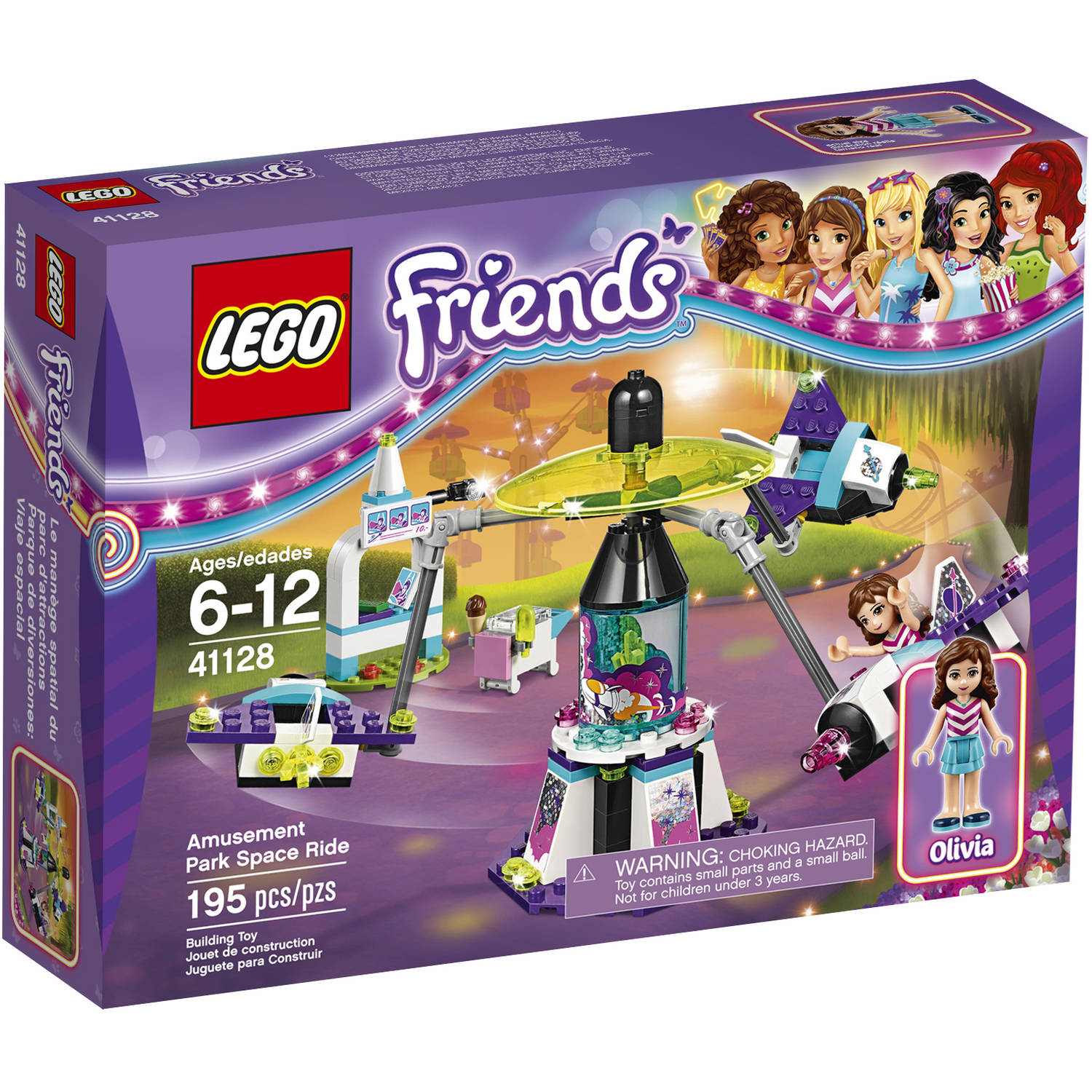 Click here to buy Lego Friends Amusement Park Space Ride 41128 by LEGO Systems, Inc..