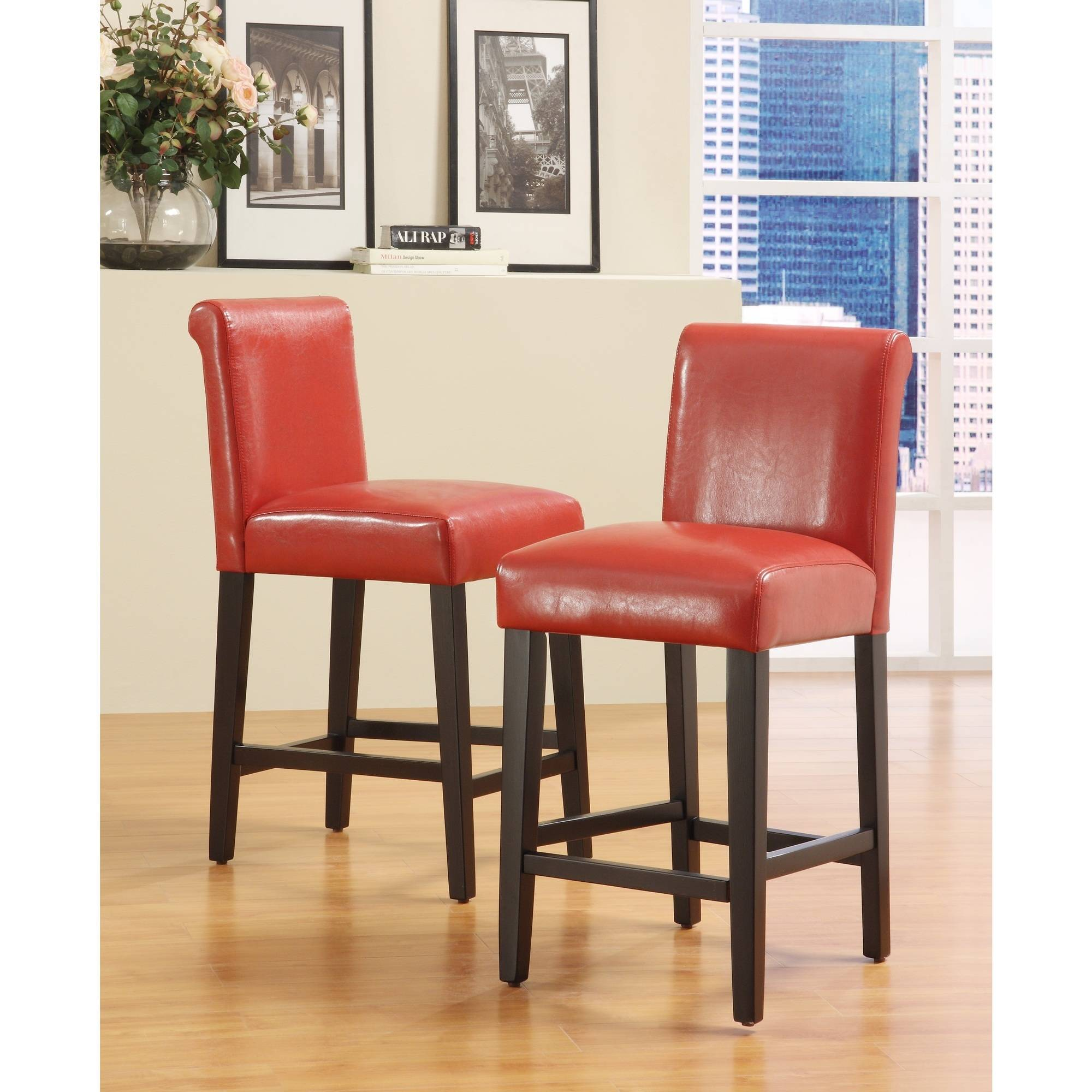"Arica Barstools 29"", Set of 2, Multiple Colors"
