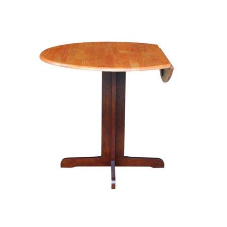 36 in. Dual Drop Leaf Dining Table - Cinnemon &