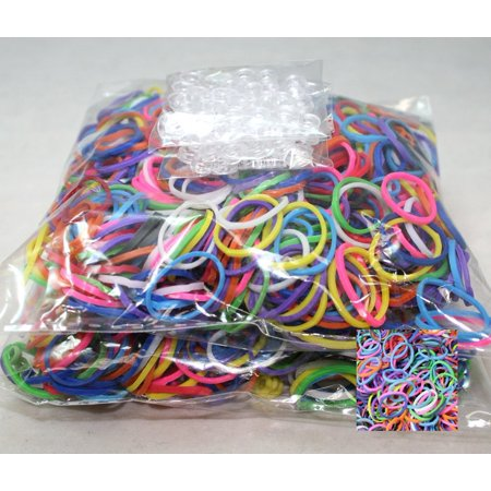 1200 Piece Multi-Color Rubber Band and S-Clips Loom Art and Craft Kids Rainbow Bracelet Refill PackOur Rainbow Colors include a random assortment of: Red, Orange,.., By Bluedot Trading](Loom Bracelet)