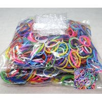 1200 Piece Multi-Color Rubber Band and S-Clips Loom Art and Craft Kids Rainbow Bracelet Refill PackOur Rainbow Colors include a random assortment of: Red, Orange,.., By Bluedot Trading