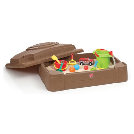 Step2 Play And Store Sandbox With Cover And Four Molded In Seats