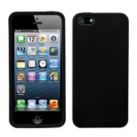 Silicone Skin Case Cover for Apple iPhone 5 / 5S iPhone SE - Black