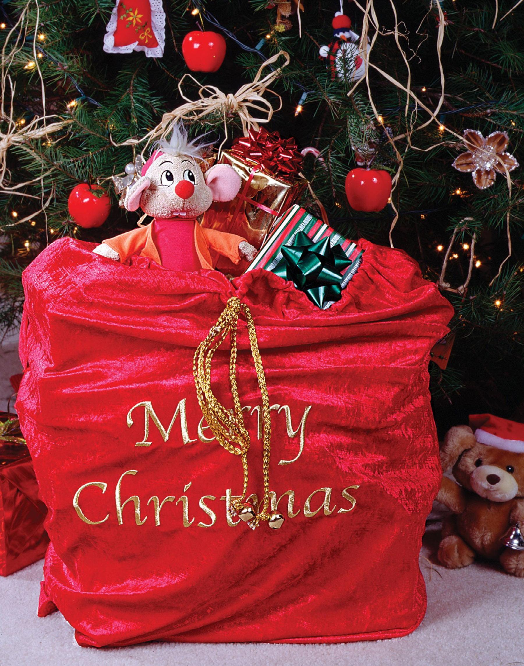 Santa Bag Fabric Drawstring Bag Drawstring Project Bag Christmas Bags for Wrapping Christmas Gift Wrap Gold Gift Bag Holiday Gift Sack