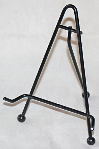 Black Wrought Iron Plate Easel Display Stand, 6-Inch by Nantucket Distributing