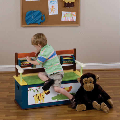 Levels of Discovery Jungle Jingle Kid's Storage Bench