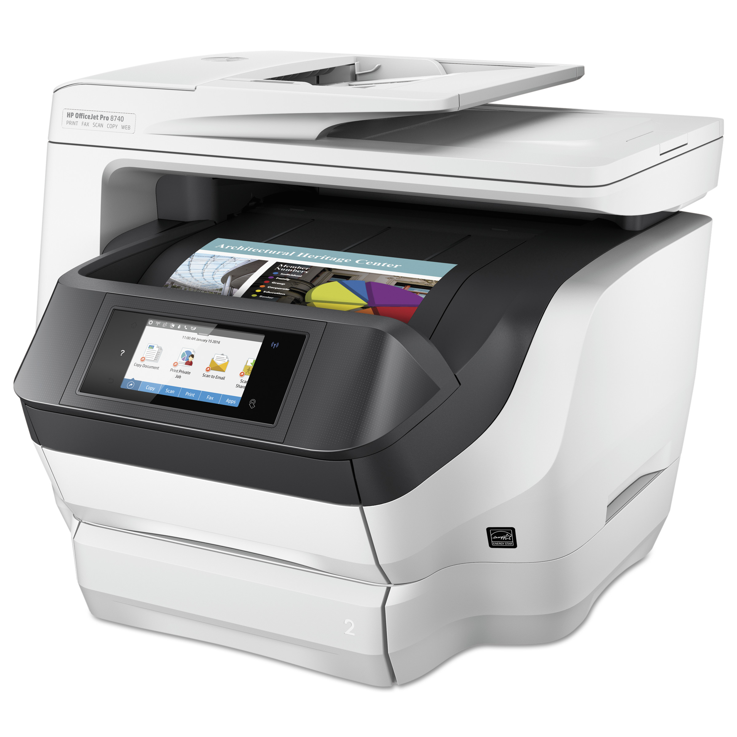 HP OfficeJet Pro 8740 All-in-One Printer, Copy Fax Print Scan by HP