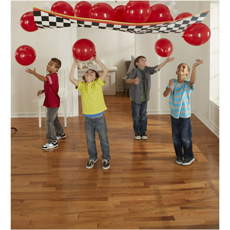 Cars 'Grand Prix Dream Party' Plastic Balloon Drop Kit w/ Latex Balloons (17pc)