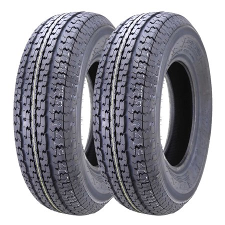 Set of 2 New Premium WINDA Trailer Tires ST 205/75R15 8PR/Load Range D w/Scuff Guard (New Halloween 3 Trailer)