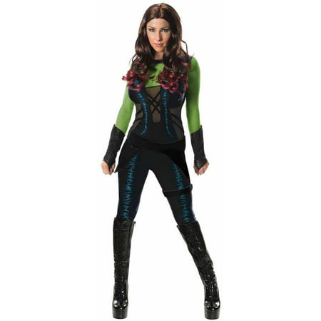 Guardians of the Galaxy Gamora Women's Adult Halloween Costume (Catholic/christian Origin Of Halloween)