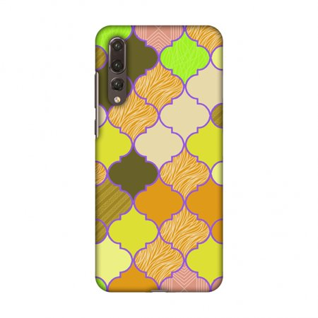 Huawei P20 Pro Case - Stained glass- Chocolate orange, Hard Plastic Back Cover, Slim Profile Cute Printed Designer Snap on Case with Screen Cleaning