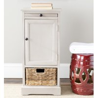 Safavieh Raven Solid Tall Storage Unit with Pullout Table and Basket