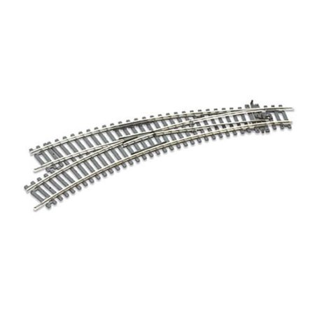 Curved Turnout - HO C100 Insul Dbl Curve LH Turnout, Peco ST-245 OO Gauge Lefthand Curved Point By PECO