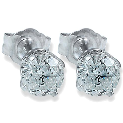 1/5ct Diamond Studs 14K White Gold