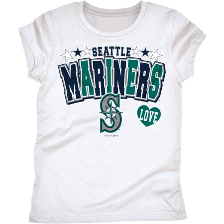 MLB Seattle Mariners Girls Short Sleeve Team Color Graphic Tee ()