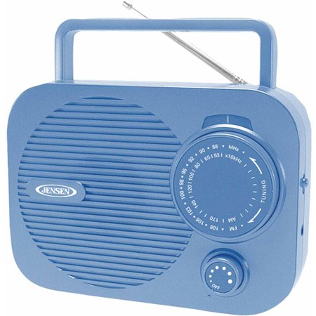 Jensen Mr-550-bl Portable AM/FM Radio (Blue)