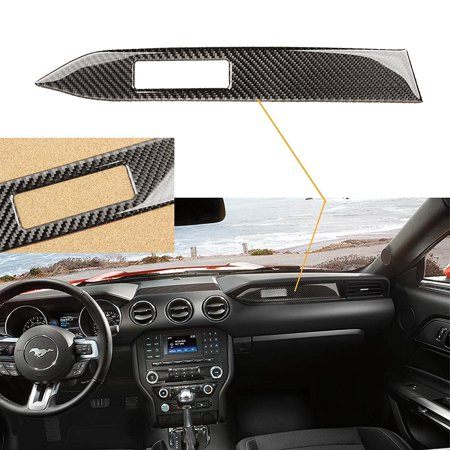 1 Carbon Fiber Hood - Xotic Tech 1 Piece Car Interior Trim Carbon Fiber Center Console Panel Sticker For 2015-2017 Mustang
