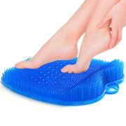 Shower Foot Scrubber Cleaner Massager with Non-Slip Suction Cups and Soft, Firm Bristles, Provides Foot Circulation, Exfoliation, Acupressure Massage Mat, Foot Cleaner by California Home Goods