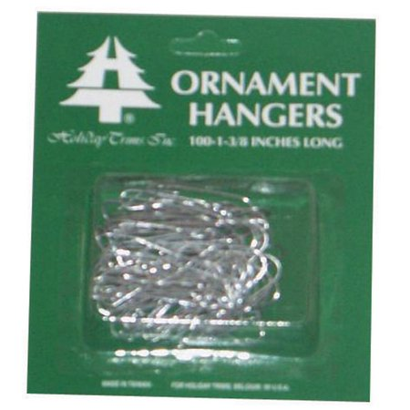 HOLIDAY TRIM Ornament Hooks, Silver, 100-Ct. 3926000
