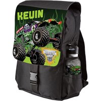 Personalized Monster Jam Grave Digger Black Youth Backpack