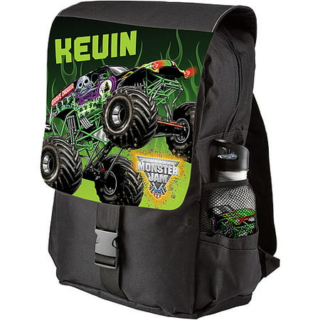 91a39c5b8e83 Personalized Monster Jam Grave Digger Black Youth Backpack - Walmart.com