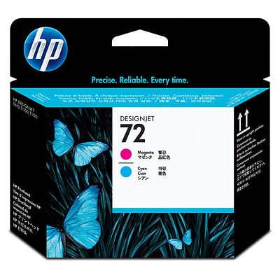 HP 72 Magenta and Cyan DesignJet (Light Cyan Printhead Cleaner)