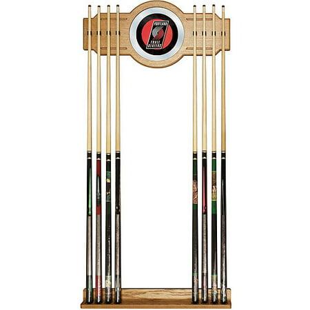 Portland Trail Blazers NBA Billiard Cue Rack with Mirror by