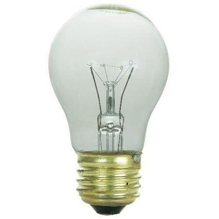 SUNLITE 40w A15 120v Medium Base Clear Bulb 02055 Appliance Light Bulb (Light Bulbs Clear)