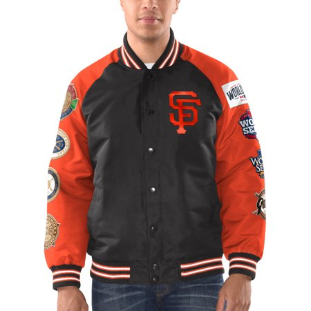 San Francisco Giants G-III Sports by Carl Banks Game Ball Commemorative Full-Snap Jacket - Black/Orange