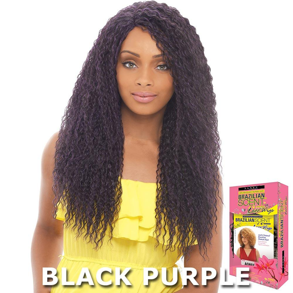 Janet Brazilian Scent Human Hair Blend Lace Front Wig - B...