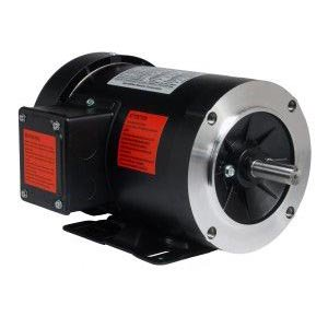 2 HP Electric Motor 3 Phase 56C Frame 1800 RPM TEFC 208 230 / 460 Volt