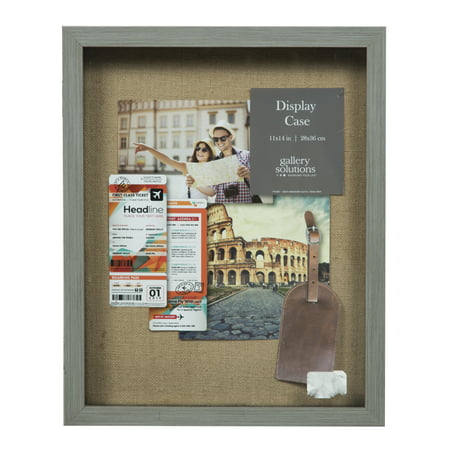 Gallery Solutions 12x15 Rustic Grey Shadow Box
