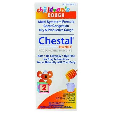 Boiron Children's Chestal Cough Syrup, Honey, 4.2 Fl Oz