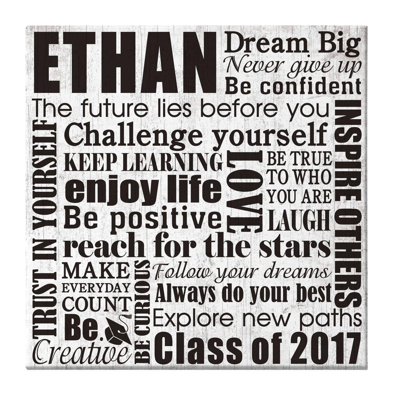 Personalized Dream Big Graduation Canvas, 11x11