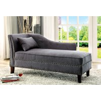 Furniture of America Erlinda Contemporary Fabric Chaise, Multiple Colors