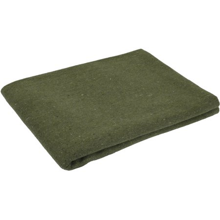 Rothco Survival Blanket - Wool Blend Rescue Style, Olive Drab